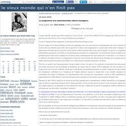 Le programme d'un abstentionniste (Raoul Vaneigem)
