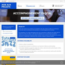 Fiche programme - Accompagnement digital - La Sacem