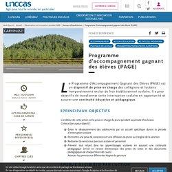 Programme d'accompagnement gagnant des élèves (PAGE) - UNCCAS