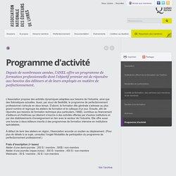 Programme d'activité