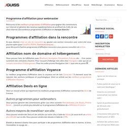 Programme d'affiliation sur Internet pour webmaster