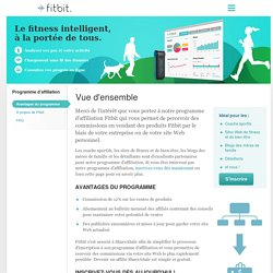 Programme d'affiliation Fitbit
