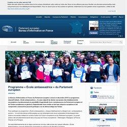 Programme « École ambassadrice » du Parlement européen