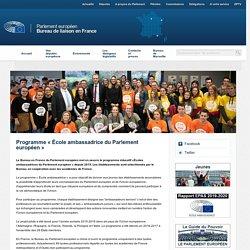 Programme « École ambassadrice du Parlement européen »