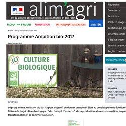 Programme Ambition bio 2017