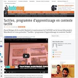 Tactileo, programme d'apprentissage en contexte tactile