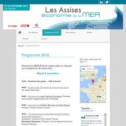 Programme 2016 - Assises de l'économie de la mer