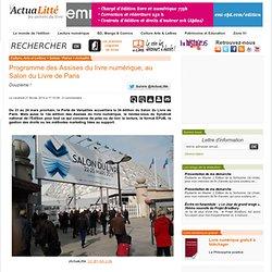 Programme des Assises du livre numérique, au Salon du Livre de Paris