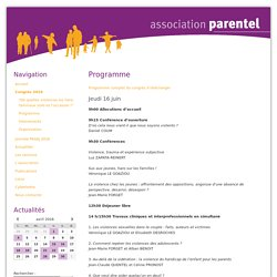 Programme - Association Parentel