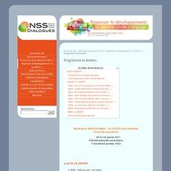 Programme et ateliers - Natures Sciences Sociétés - Dialogues