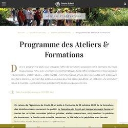 Programme des Ateliers & Formations