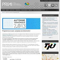 Programme Automne Transmédia 2.013