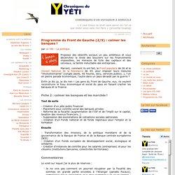 Programme du Front de Gauche (2/9) : calmer les banques !