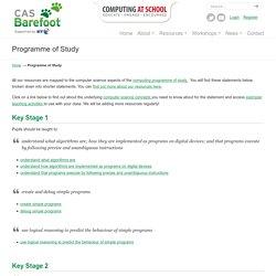 Programme of Study - Barefoot Computing Barefoot Computing