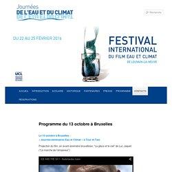 Programme du 13 octobre à Bruxelles
