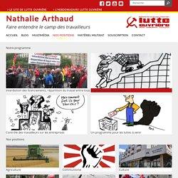 Le site de campagne de Nathalie Arthaud
