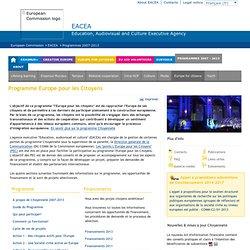 Programme Citoyenneté 2007-2013 - L'Europe pour les citoyens