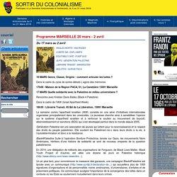 Programme MARSEILLE 20 mars - 2 avril - Sortir du colonialisme