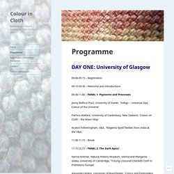 Programme – Colour in Cloth