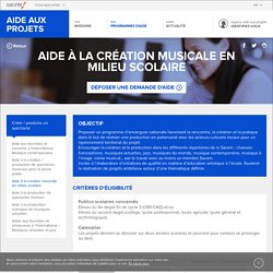 Aide à la création musicale en milieu scolaire - La Sacem