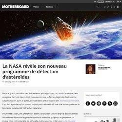 La NASA révèle son nouveau programme de détection d'astéroïdes
