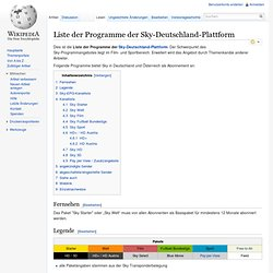Sky Programme Liste