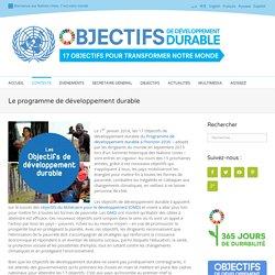 Le programme de développement durable - Développement durable