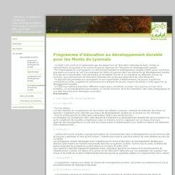 programme d'éducation au développement durable