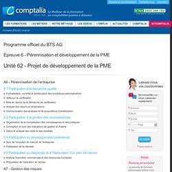 Programme officiel du BTS AG, Unité 62 - Projet de développement de la PME