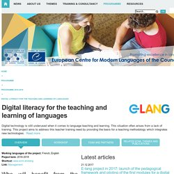 CELV > ECML-Programme > Programme 2016-2019 > Digital literacy
