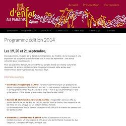 Programme édition 2014