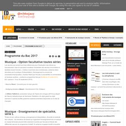 Programme du Bac 2017 - éducation musicale — by nikkojazz