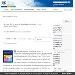 WORLD METEOROLOGICAL ORGANIZATION - Librairie en ligne concernant les publications des Nations Unies pour l'environnement.