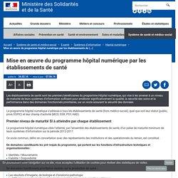 Mise en œuvre du programme hôpital numérique par les établissements de santé - Hôpital numérique