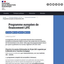 Programme européen de financement LIFE