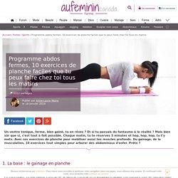 Programme abdo : 10 exercices de planche pour les abdominaux