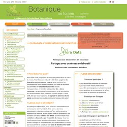 Programme Flora Data