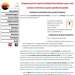 Programme de sport Footing-Musculation pour maigrir