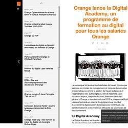 Orange lance la Digital Academy, un programme de formation au digital pour tous les salariés Orange - actualités - Orange Jobs