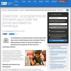 Class'code : un programme de formation pour initier les jeunes aux bases du numérique