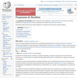 Programme de Hamilton