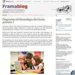 Programme d'informatique dès l'école primaire ?
