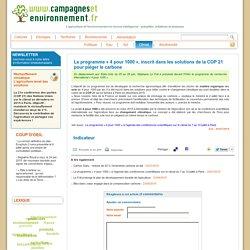 : Le programme « 4 pour 1000 », inscrit dans les solutions de la COP 21 pour piéger le carbone