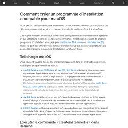 Création d'un programme d'installation amorçable pour macOS