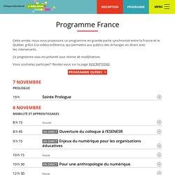 Colloque international e-éducation