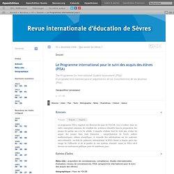 Le Programme international pour le suivi des acquis des élèves (PISA)
