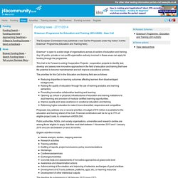 Erasmus+ Programme for Education and Training (2014-2020) - New Call (27/11/2014) - News - j4bCommunity