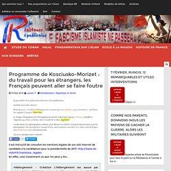 Programme de Kosciusko-Morizet : du travail pour les étrangers, les Français peuvent aller se faire foutre
