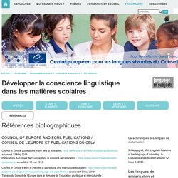 /CELV > ECML-Programme > Programme 2016-2019 > language in subjects > References
