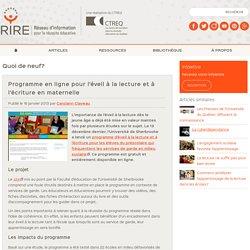 Programme en ligne pour l'éveil à la lecture et à l'écriture en maternelle